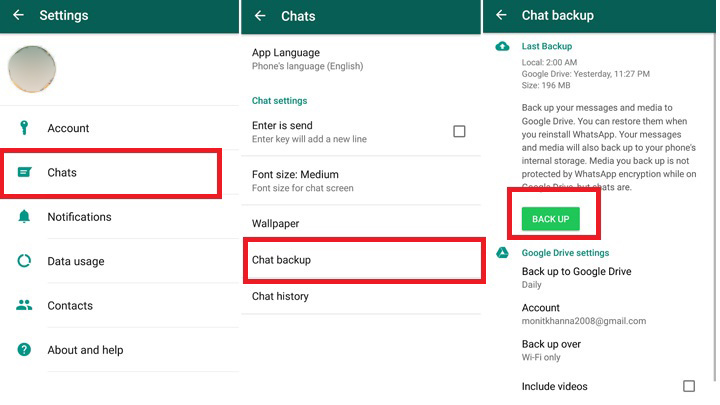 WhatsApp chat backup lost conversation