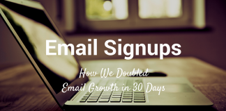 how to double your email subscriber in 30 days