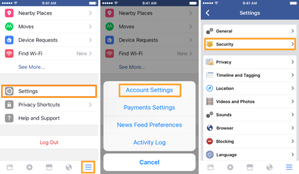 How to log out of all active Facebook sessions from your iPhone