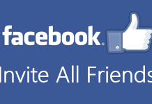 how to invite all friends on facebook page in one click