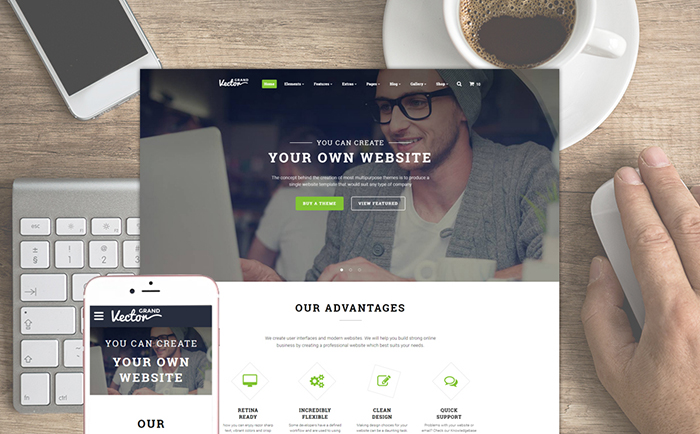 Manager Website Template