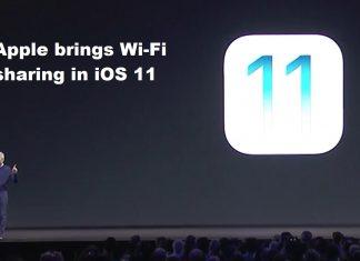 Apple brings Wi-Fi sharing in iOS 11