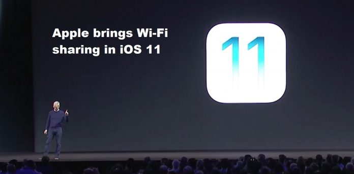 Apple brings Wi-Fi sharing in iOS 11
