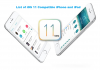 List of iOS 11 Compatible iPhone and iPad