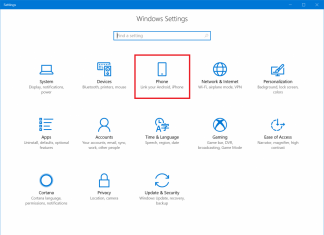 Windows lets you link your phone and PC