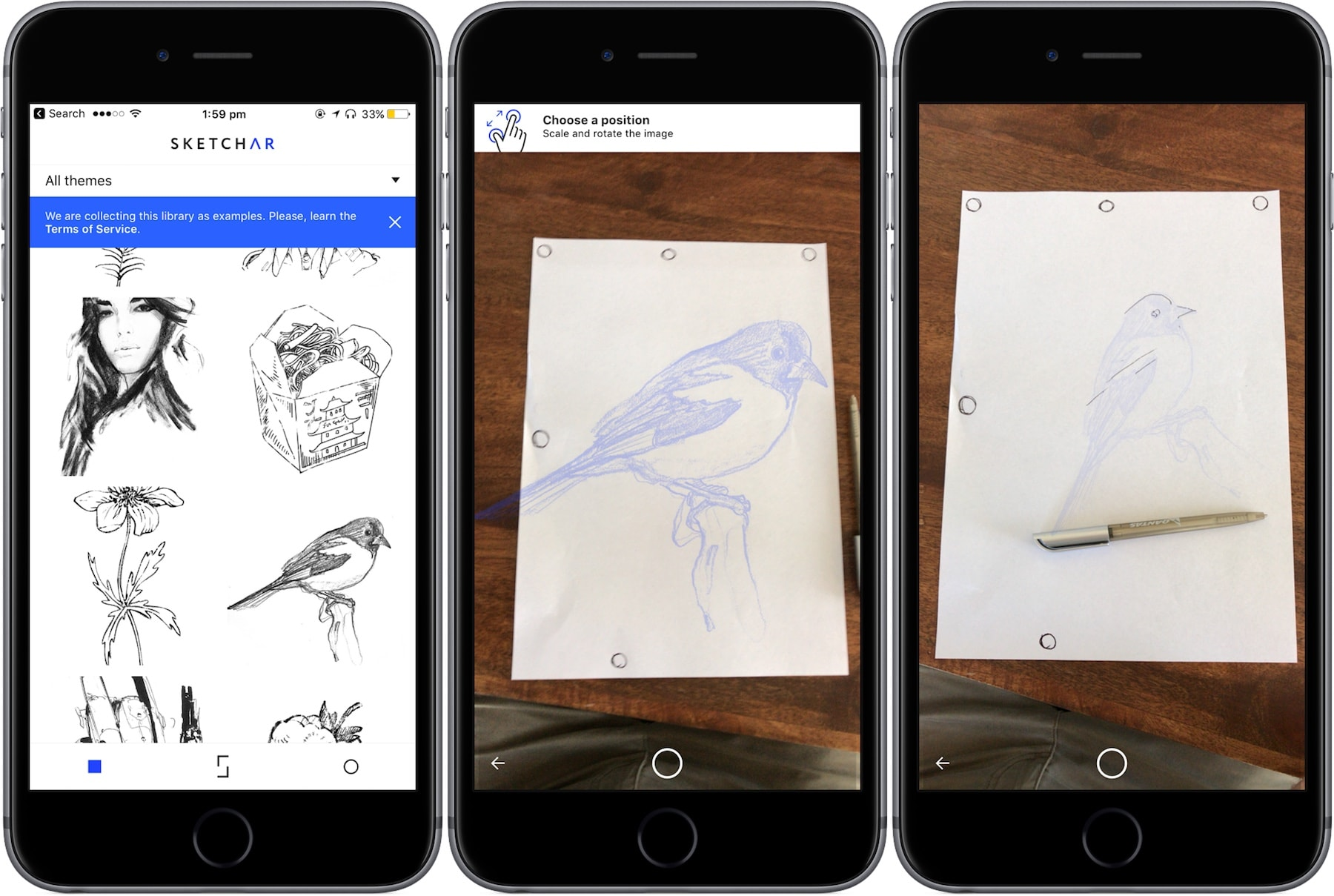 SketchAR-drawing sketches using augmented reality