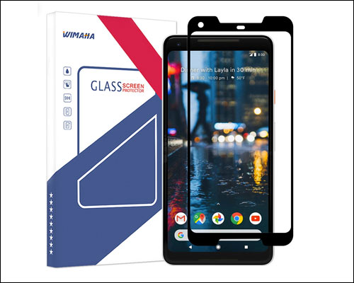 Wimaha Curved Tempered Glass Screen Protector for Google Pixel 2 XL