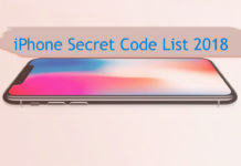 iphone secret code list 2018