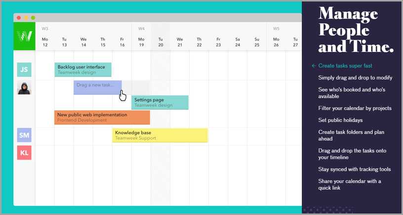 Teamweek - project management tool and software