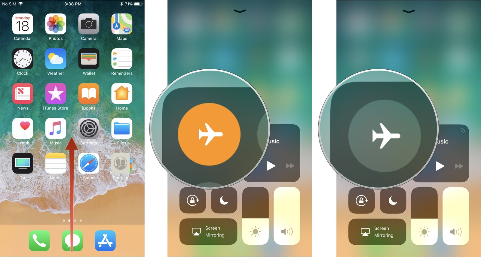 Control-Center-Airplane-mode-iPhone-screenshot