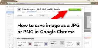 How to save image as a jpg or png in Google Chrome: