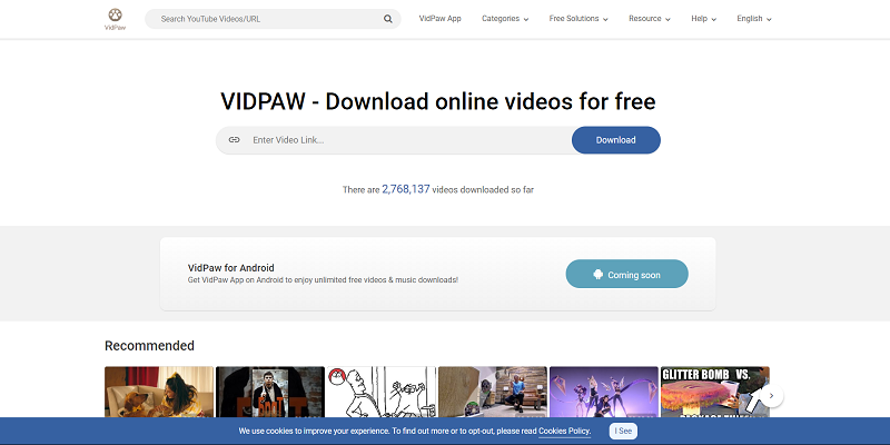 VidPaw Interface