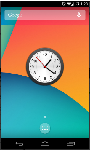 Animated Analog Clock Widget for android