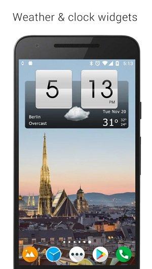 Sense Flip Clock & Weather widget clock for android